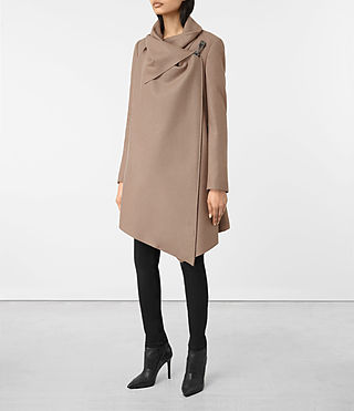 Womens City Monument Coat (Dune) - product_image_alt_text_3