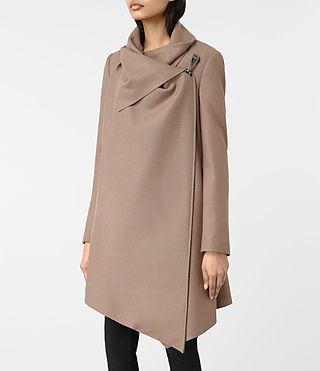 Womens City Monument Coat (Dune) - product_image_alt_text_4