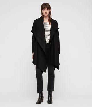 Femmes Manteau City Monument (Black) - Image 1