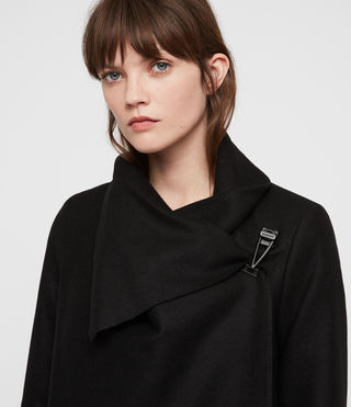 Women's City Monument Coat (Black) - Image 2