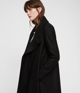 Women's City Monument Coat (Black) - Image 4