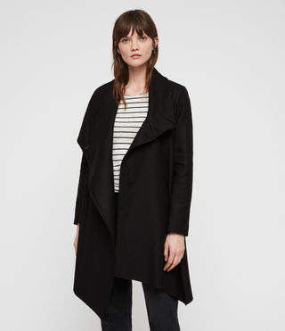 Women's City Monument Coat (Black) - Image 5