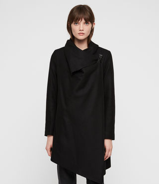 Women's City Monument Coat (Black) - Image 6
