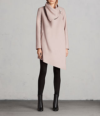 Womens City Monument Coat (SMOKE PINK) - Image 1