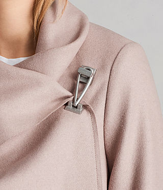 Womens City Monument Coat (SMOKE PINK) - Image 2