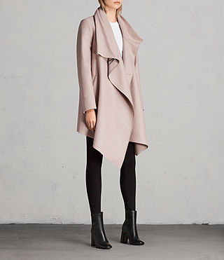 Womens City Monument Coat (SMOKE PINK) - Image 3