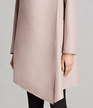 Women's City Monument Coat (SMOKE PINK) - Image 4
