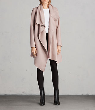 Womens City Monument Coat (SMOKE PINK) - Image 5