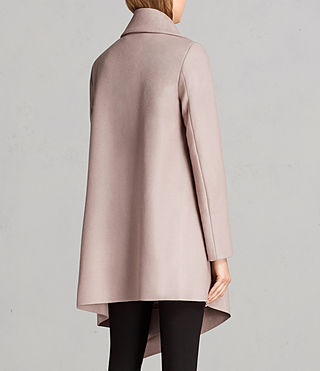 Women's City Monument Coat (SMOKE PINK) - Image 6