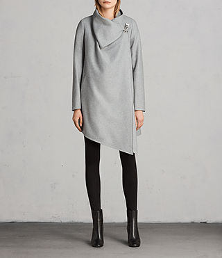 Femmes Manteau City Monument (Light Grey Marl) - Image 1