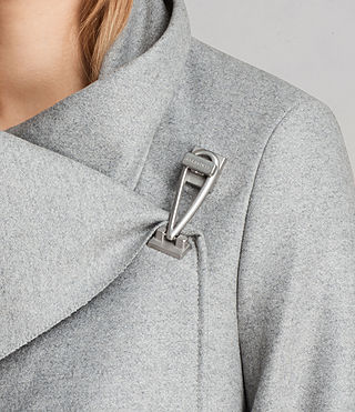 Femmes Manteau City Monument (Light Grey Marl) - Image 2