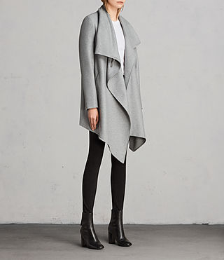 Femmes Manteau City Monument (Light Grey Marl) - Image 3