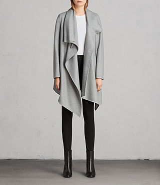 Femmes Manteau City Monument (Light Grey Marl) - Image 4