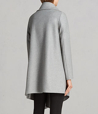 Femmes Manteau City Monument (Light Grey Marl) - Image 5