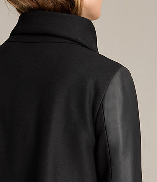 Femmes Manteau Hyde Monument (Black) - product_image_alt_text_2