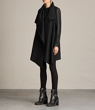 Femmes Manteau Hyde Monument (Black) - product_image_alt_text_3