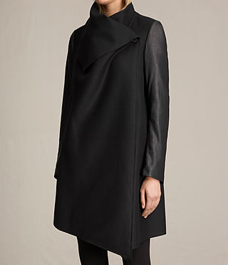 Femmes Manteau Hyde Monument (Black) - product_image_alt_text_5