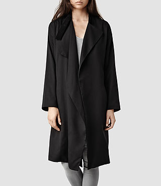 Womens Marlowe Coat (Black)