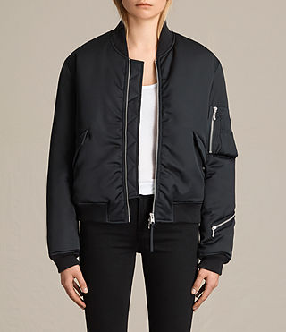 Women's Cissi Bomber Jacket (Black) -
