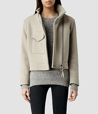 Womens Suki Cropped M65 Jacket (Pebble)