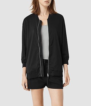 Womens Quin Bomber Jacket (Black)