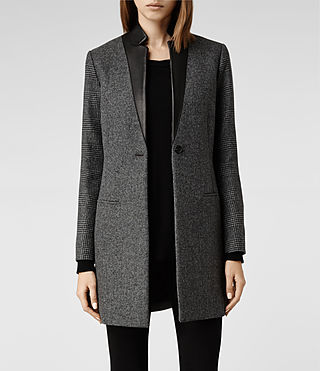 Womens Lorie Tula Coat (Charcoal)