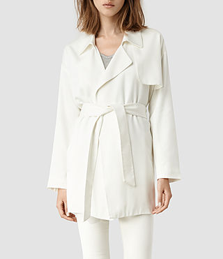 Womens Nya Coat (White)