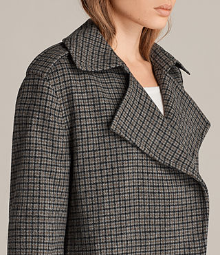 Donne Cappotto Ripley Check (Brown Chk) - product_image_alt_text_2