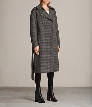 Mujer Ripley Check Coat (Brown Chk) - product_image_alt_text_3