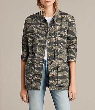Womens Rasko Jacket (CAMO KHAKI GREEN) - product_image_alt_text_1