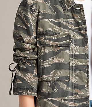 Womens Rasko Jacket (CAMO KHAKI GREEN) - product_image_alt_text_2