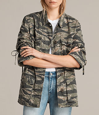 Womens Rasko Jacket (CAMO KHAKI GREEN) - product_image_alt_text_4