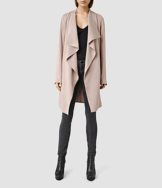 Womens Hace Trench Coat (Dusty Pink)
