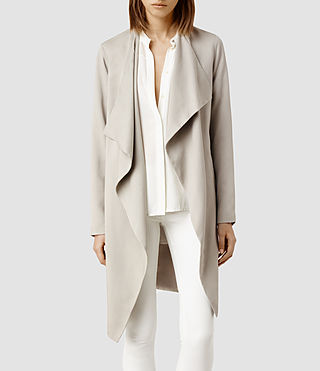 Womens Hace Trench (Oyster)