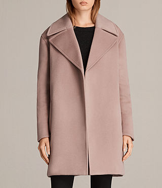 Womens Remi Coat (VINTAGE ROSE PINK) - product_image_alt_text_1
