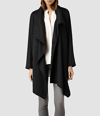 Womens Aiko Monument Coat (Black)