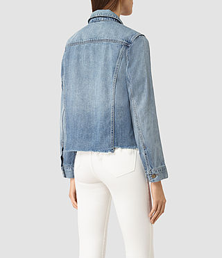 Mujer Justina Rip Denim Jacket (Indigo Blue) - product_image_alt_text_3