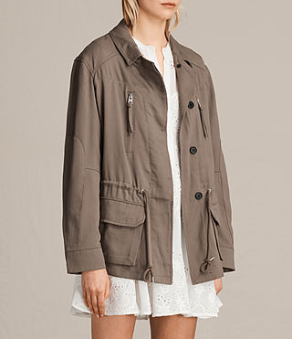 Womens Amaris Jacket (DUST OLIVE GREEN) - product_image_alt_text_3