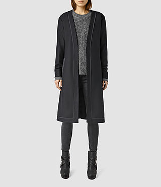 Womens Bound Nesi Coat (Ink Blue)
