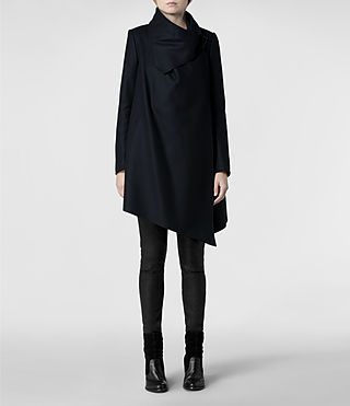 Womens City Monument Coat (Black) - product_image_alt_text_1