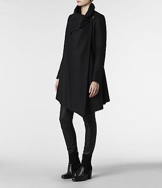 Womens City Monument Coat (Black) - product_image_alt_text_2