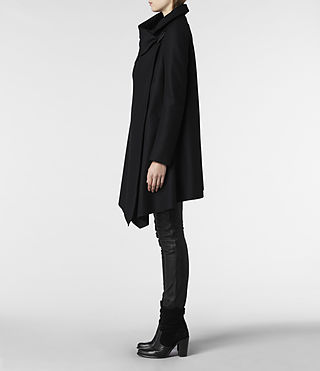 Womens City Monument Coat (Black) - product_image_alt_text_3