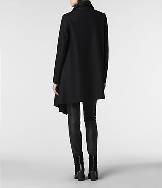 Womens City Monument Coat (Black) - product_image_alt_text_4