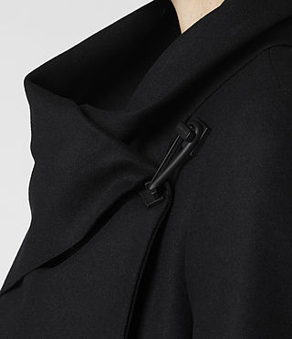 Womens City Monument Coat (Black) - product_image_alt_text_5