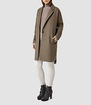 Womens Vine Coat (Olive Green)