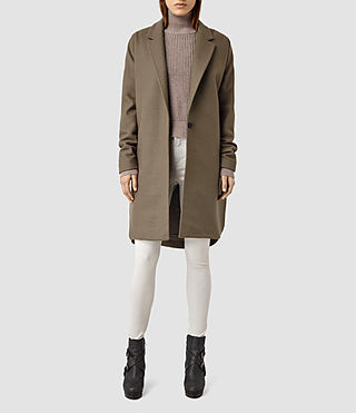 Mujer Vine Coat (Olive) - product_image_alt_text_2