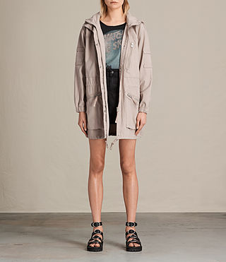 Womens Skyler Parka (Dusty Pink)