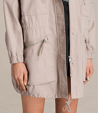 Womens Skyler Parka (Dusty Pink) - product_image_alt_text_2