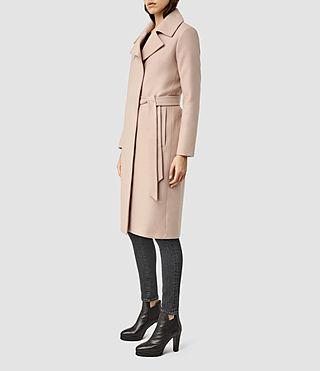 Womens Iya Mai Coat (Dusty Pink)