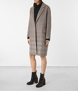 Damen Sancia Tara Coat (DUNE/WHITE)